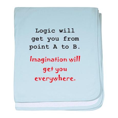Imagination Everywhere Black.png baby blanket