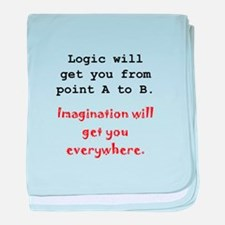 Imagination Everywhere Black.png baby blanket