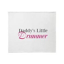 Daddy's Little Drummer Throw Blanket