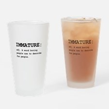 Immature Definition Black.png Drinking Glass