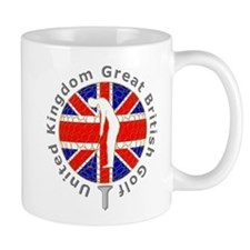 Great Britain union jack golf ball on tee Mug
