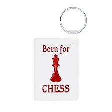 Born for Chess Aluminum Photo Keychain