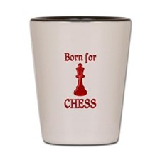 Born for Chess Shot Glass