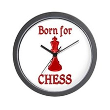 Born for Chess Wall Clock