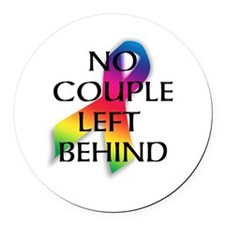 Cute Marriage Round Car Magnet