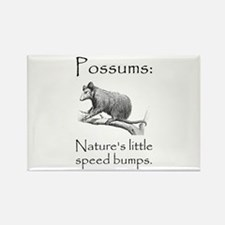 Possum Speed Bump.png Rectangle Magnet (10 pack)