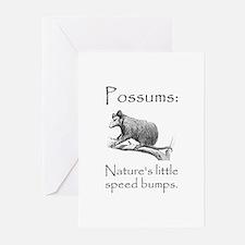 Possum Speed Bump.png Greeting Cards (Pk of 10)