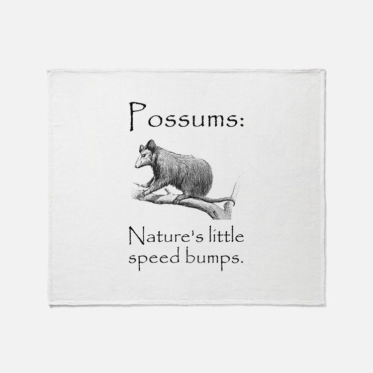 Possum Speed Bump.png Throw Blanket
