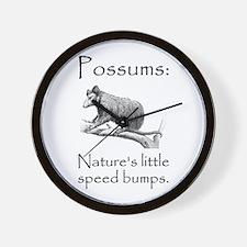 Possum Speed Bump.png Wall Clock