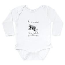 Possum Speed Bump.png Long Sleeve Infant Bodysuit