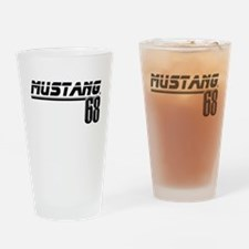 Mustang 68 Drinking Glass