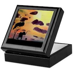 African Evening Keepsake Box