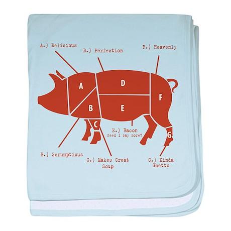 Delicious Pig Parts! baby blanket