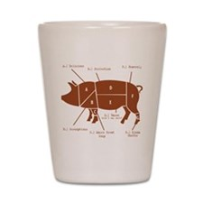 Delicious Pig Parts! Shot Glass