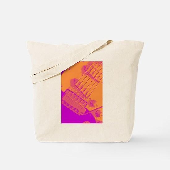 Pop Art Strat Electric Guitar Tote Bag