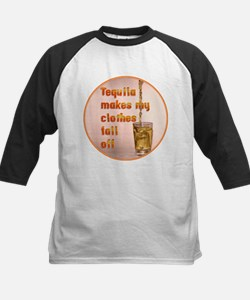 Tequila Makes My Clothes Kids Baseball Jersey