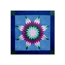 "Star Quilt Square Sticker 3"" x 3"""