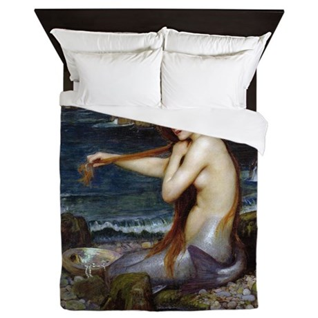 John William Waterhouse Mermaid Queen Duvet by iloveyou1