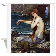 John William Waterhouse Mermaid Shower Curtain