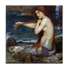 John William Waterhouse Mermaid Tile Coaster