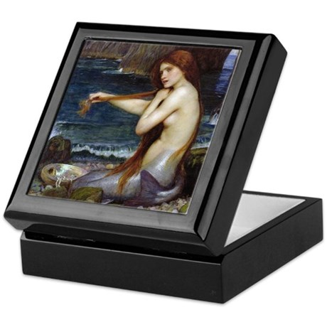 John William Waterhouse Mermaid Keepsake Box
