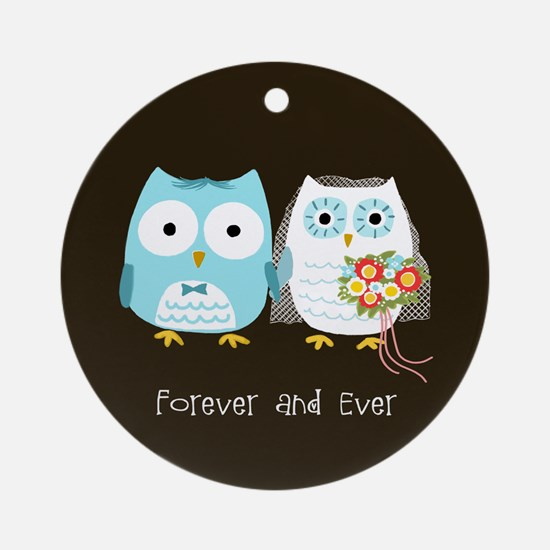 Owls Forever and Ever Wedding Ornament