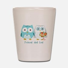 Owls Wedding Shot Glass