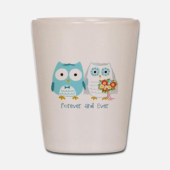 Owls Wedding Shot Glass