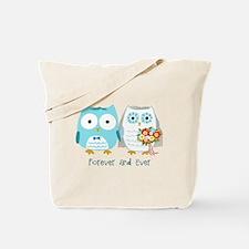 Owls Wedding Tote Bag