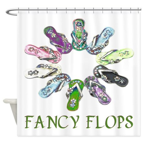 Fancy Flops Shower Curtain By DeluciousDesigns