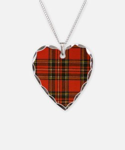 Tartan Pride Necklace Heart Charm