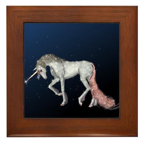 Unicorn Sparkles Framed Tile