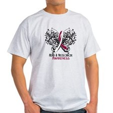 Butterfly Head Neck Cancer T-Shirt