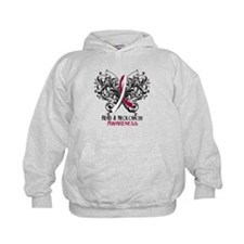 Butterfly Head Neck Cancer Hoodie