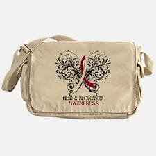 Butterfly Head Neck Cancer Messenger Bag