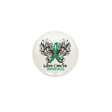 Butterfly Liver Cancer Mini Button (10 pack)
