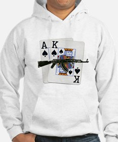 Ace King Spades with AK 47 Hoodie