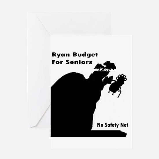 Ryan Budget for Seniors Greeting Card