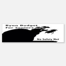Ryan Budget for Seniors Sticker (Bumper)