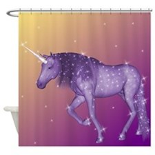 Purple Unicorn Shower Curtain