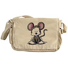 Westie Mouse Messenger Bag