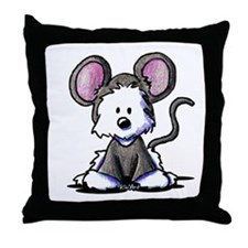 Westie Mouse Throw Pillow