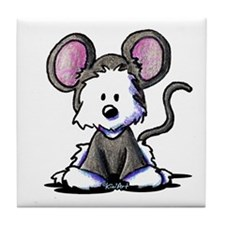 Westie Mouse Tile Coaster