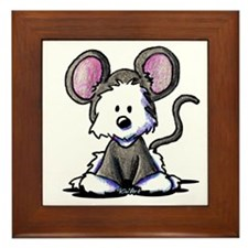 Westie Mouse Framed Tile