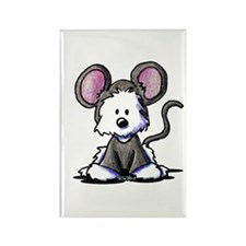 Westie Mouse Rectangle Magnet