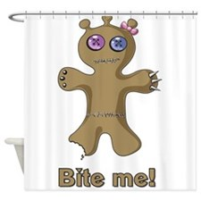 Ugly Mutt Cookie says Bite Me Yumm Shower Curtain