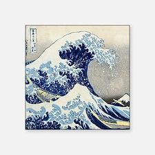 """Hokusai - Kanagawa Square Sticker 3"""" x 3"""""""