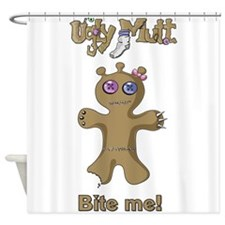 Ugly Mutt - Cookie says Bite Me! Shower Curtain