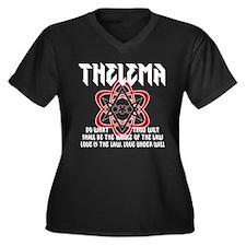 Thelema Rocks Women's Plus Size V-Neck Dark T-Shir