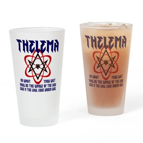 Thelema Rocks Drinking Glass DARK LETTERS